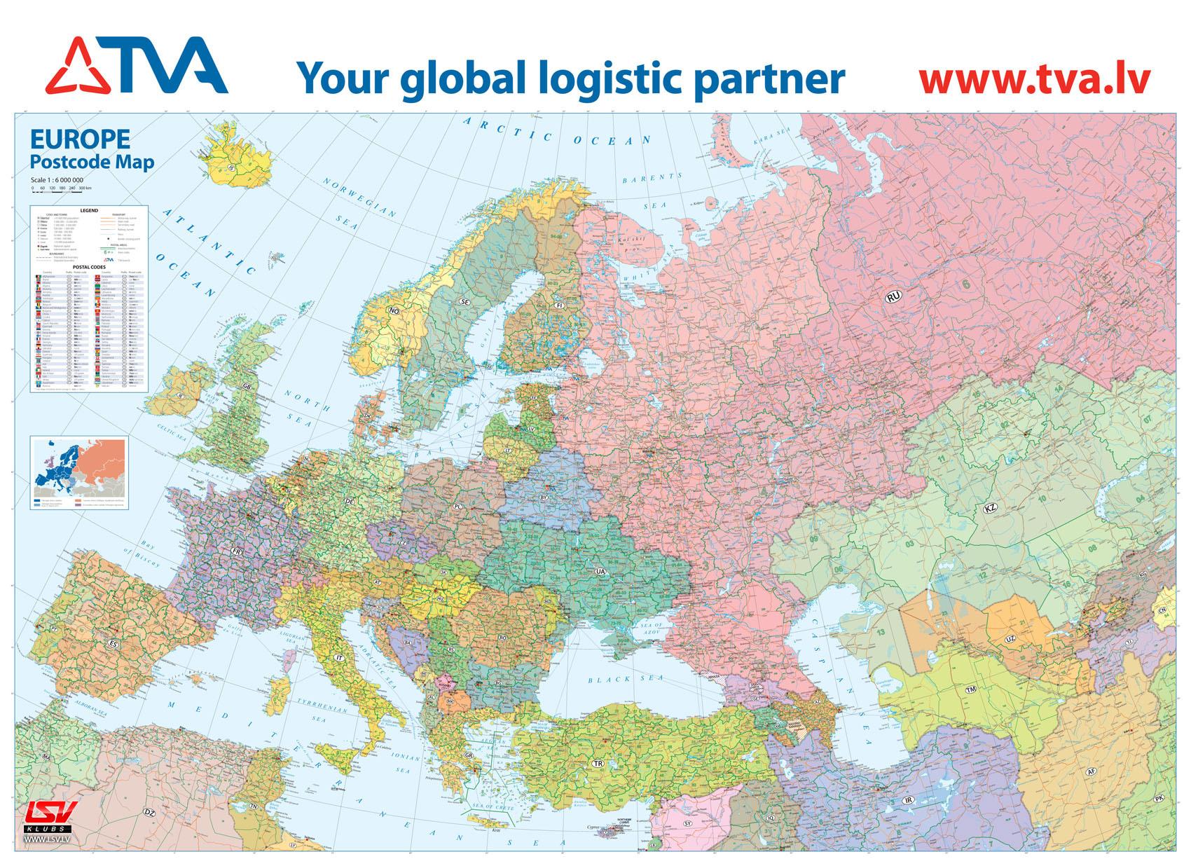 LSV - Карта автомобильных дорог Европы с почтовыми ...: http://www.lsv.lv/public/26641.html